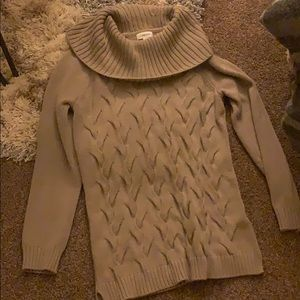 Tan Calvin Klein Cowl Neck Sweater
